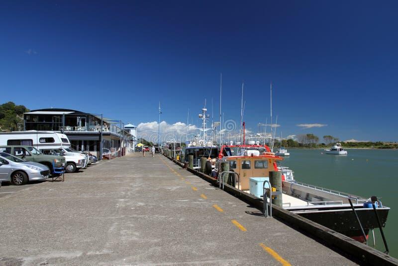 Whakatane Wharf, New Zealand Stock Photography