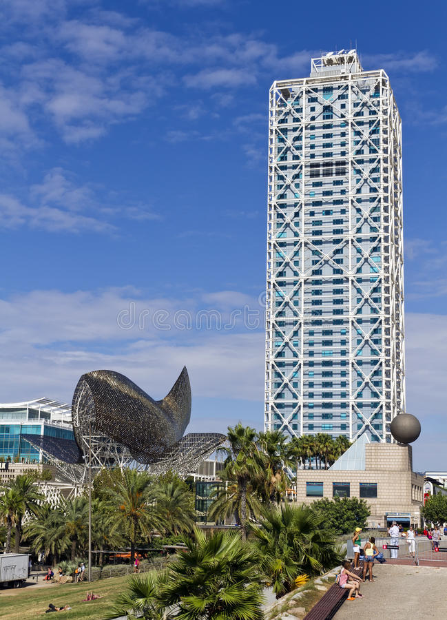 Whale Barcelona Spain Editorial Photo