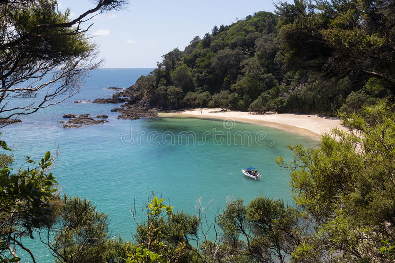Whale Bay at the Tutukaka coast in New Zealand stock photography