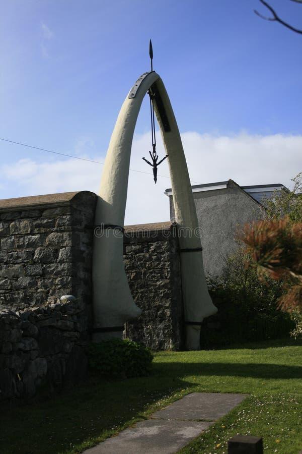 Whale Bone Arch. On the Isle of Lewis Scotland royalty free stock photos