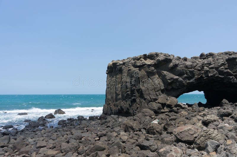 Whale Cave, Penghu stock image