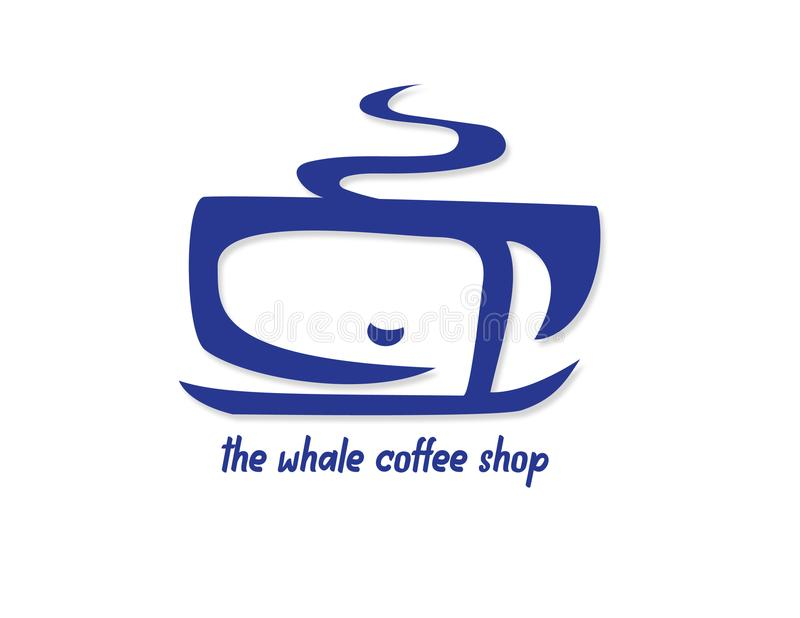 The whale Coffee shop royalty free stock photo