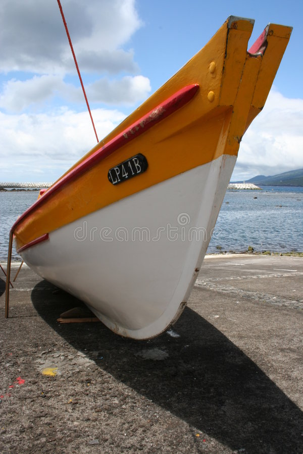Whale hunting canoe royalty free stock photography