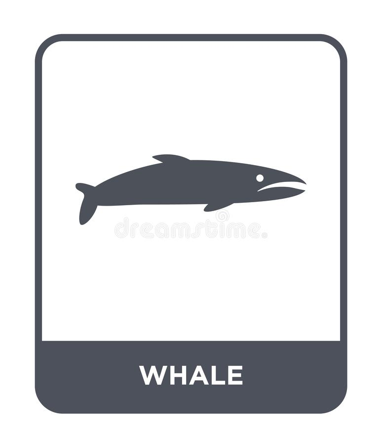 whale icon in trendy design style. whale icon isolated on white background. whale vector icon simple and modern flat symbol for stock illustration