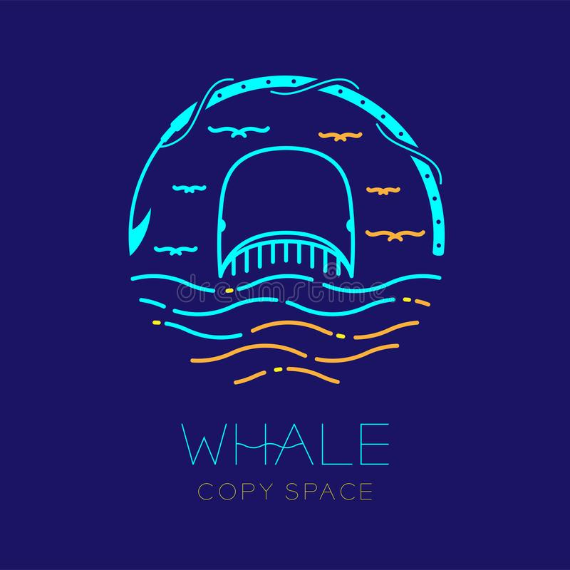 Free Whale, Seagull, Wave And Harpoon Shape, Logo Icon Outline Stroke Set Dash Line Design Illustration Royalty Free Stock Photo - 120756085