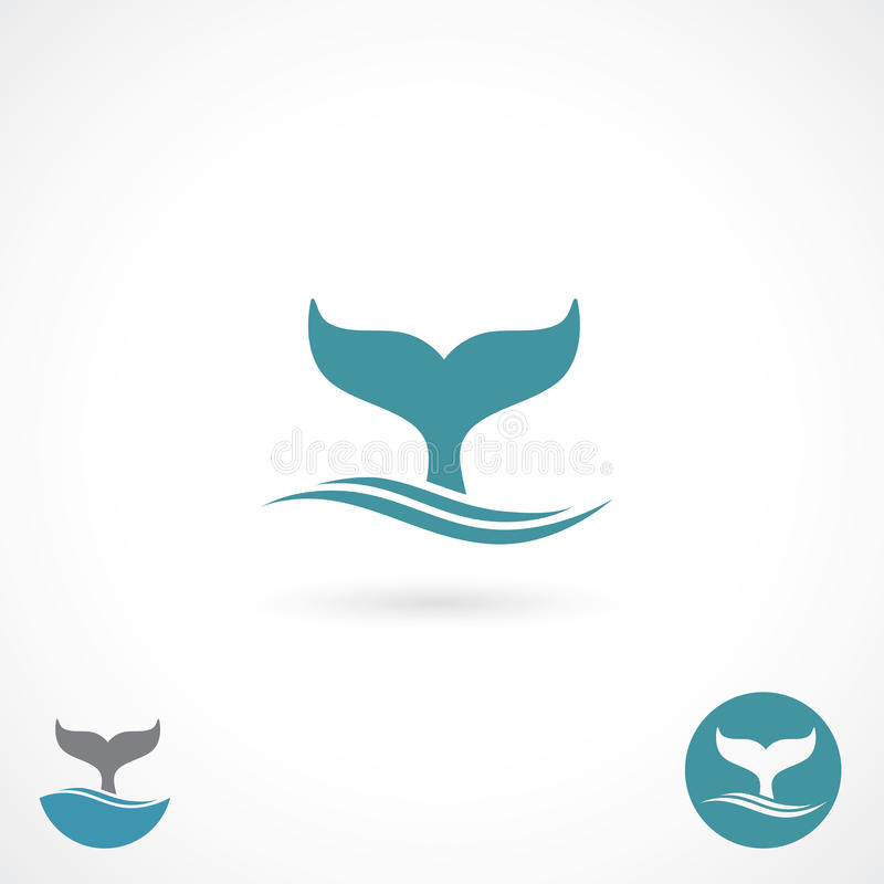 Whale tale. Vector illustration of white shark tale royalty free illustration