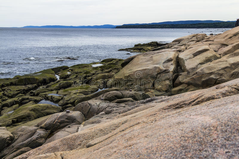 Whale watching spot in Quebec, Canada. Whale watching spot on the sea in Quebec, Canada royalty free stock photo