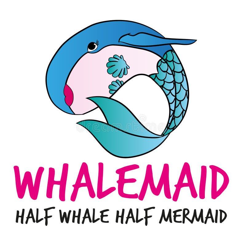 Whalemaid, μισή γοργόνα φαλαινών hald ελεύθερη απεικόνιση δικαιώματος