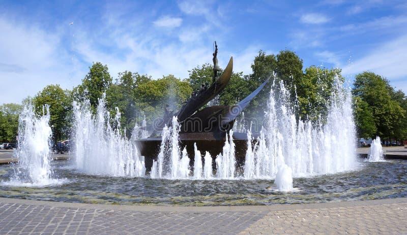 Whaler's纪念碑,桑德尔福德,挪威 免版税库存照片