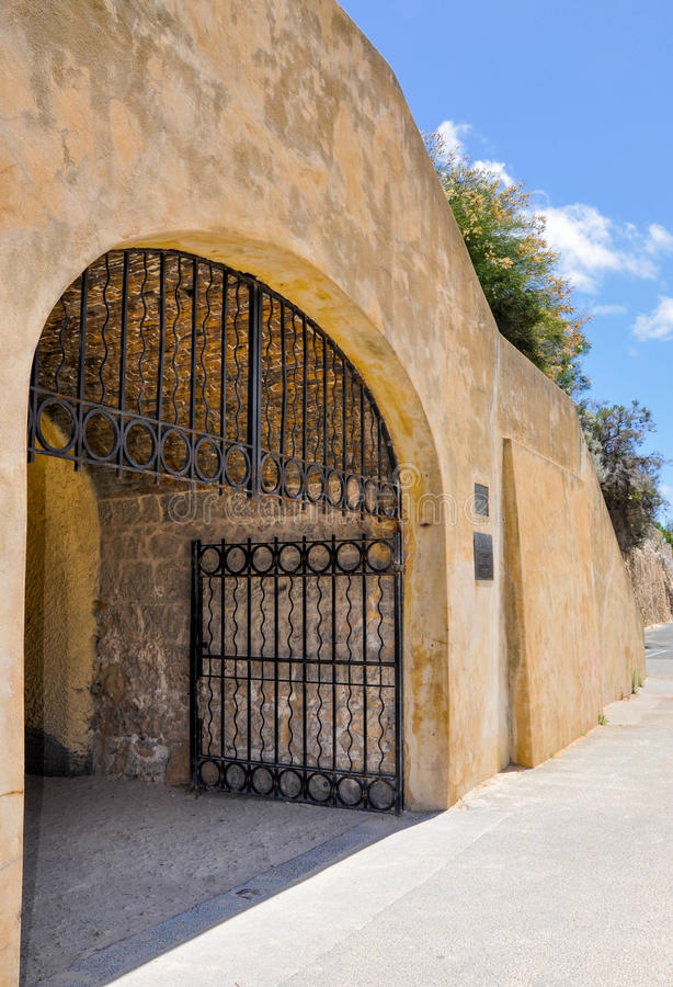 Whaler's Tunnel Exterior and Gate: Fremantle, Western Australia stock image