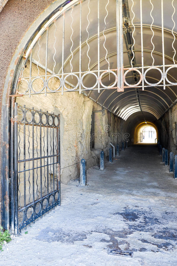 Whaler's Tunnel Gated Entrance: Fremantle, Western Australia stock images