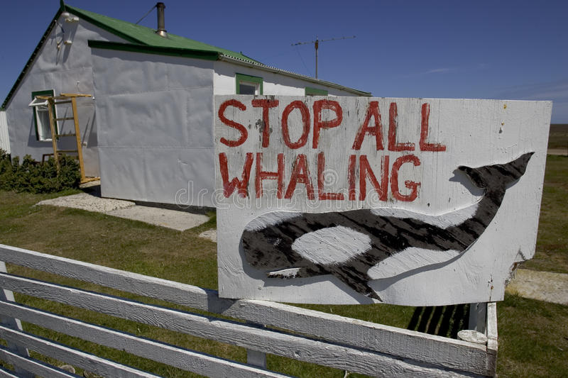 Whaling sign, stock images