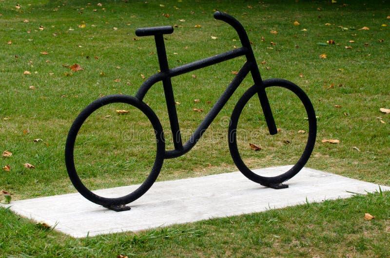 Bicicleta preta fotografia de stock