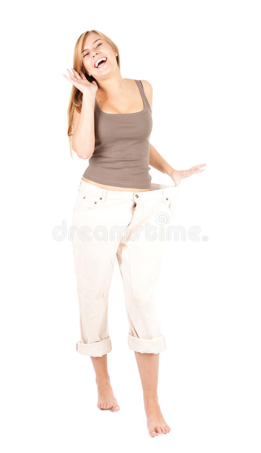 Download Whappy Weight Lost Young Woman Stock Photo - Image: 21732984