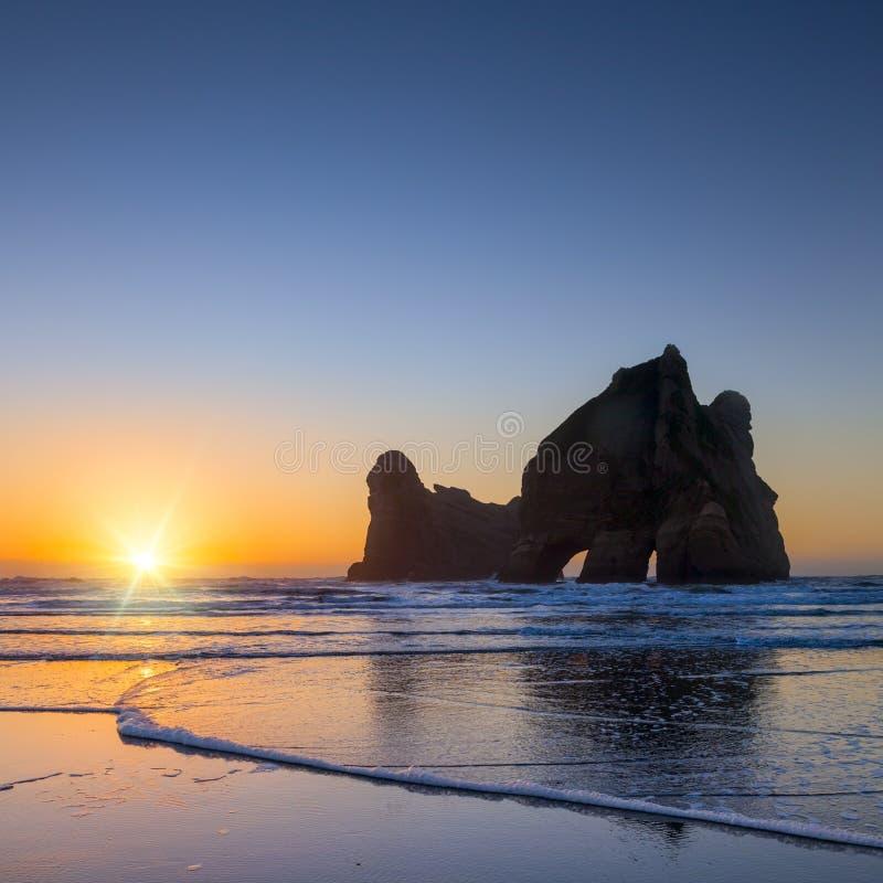 Wharariki Νέα Ζηλανδία στοκ εικόνες