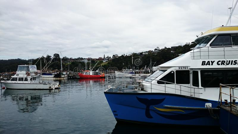 Wharf @ Eden, Australia stock image