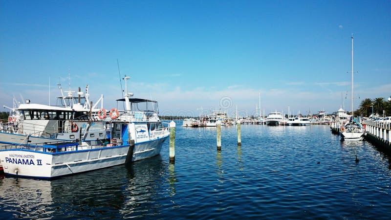 Wharf @ Lakes Entrance. Ships at the wharf in Lakes Entrance, Victoria, Australia royalty free stock image