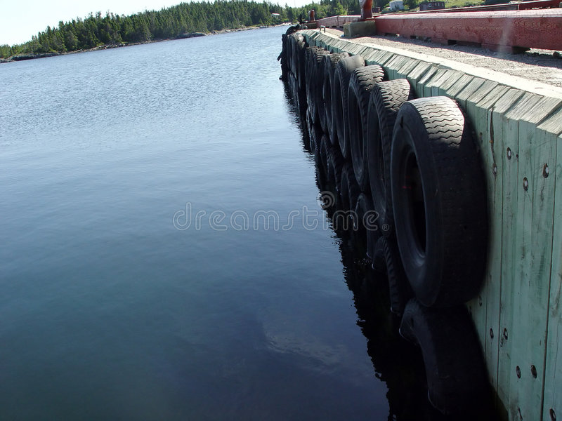 Download Wharf With Tires As Bumpers Stock Photo - Image: 18332