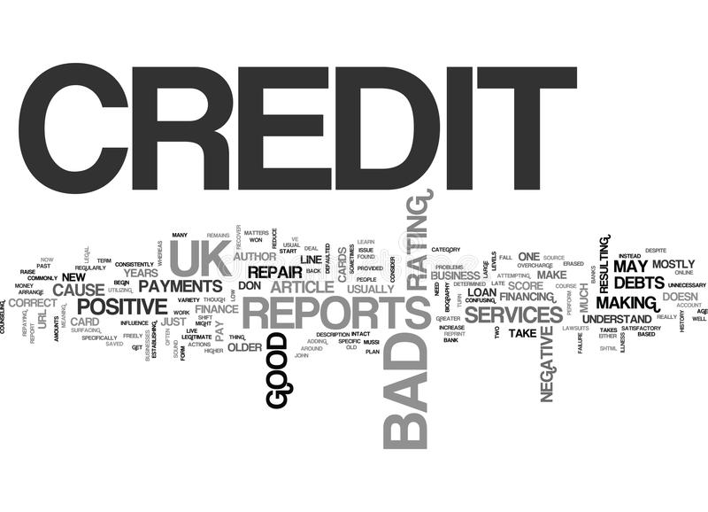 What Is Bad Credit Uk Word Cloud vector illustration