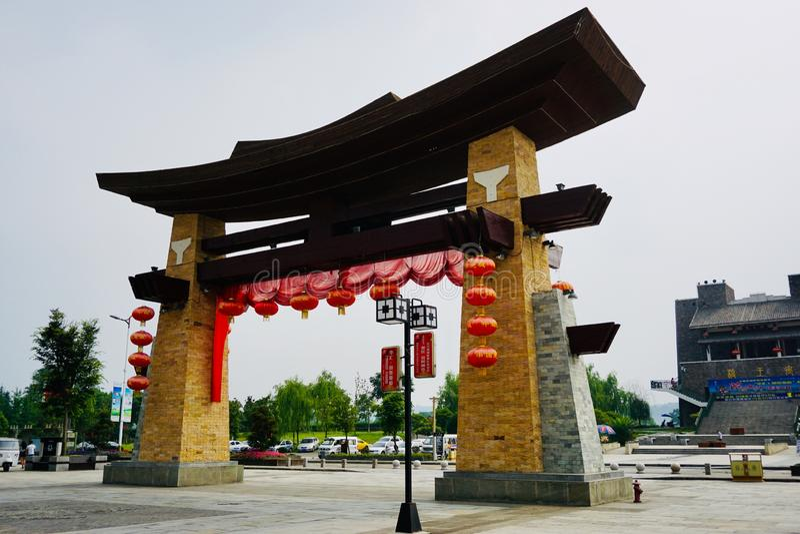 New Beichuan Barnacha Gate royalty free stock image