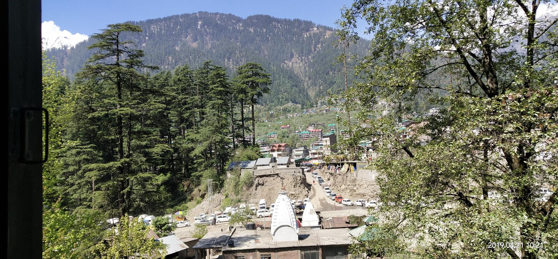 What a beautiful place, Kullu Manali at Himachal Pradesh stock image