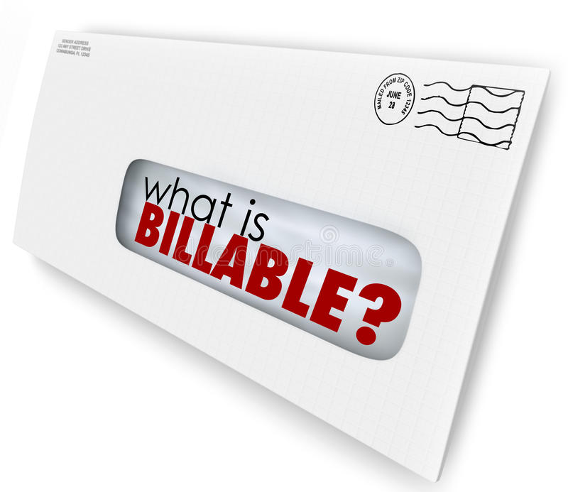 What is Billable Words Envelope Invoice Mail Charges royalty free illustration