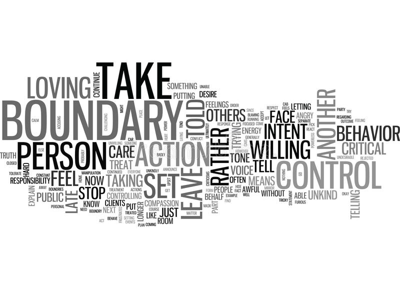 What Is A Boundary Word Cloud. WHAT IS A BOUNDARY TEXT WORD CLOUD CONCEPT stock illustration