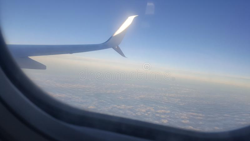 What a clear sky ethiopia airline. What a clear sky ethiopia. Fly high clear sky stock photo