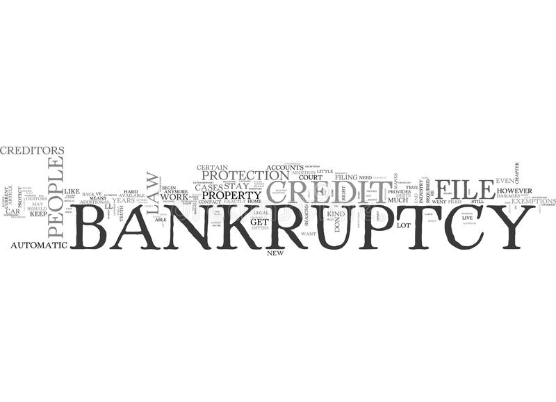 What The Credit Industry Doesn T Want You To Know About Bankruptcy Word Cloud vector illustration