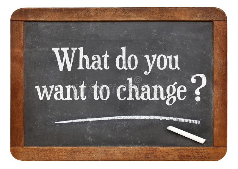 What do you want to change? royalty free stock photography