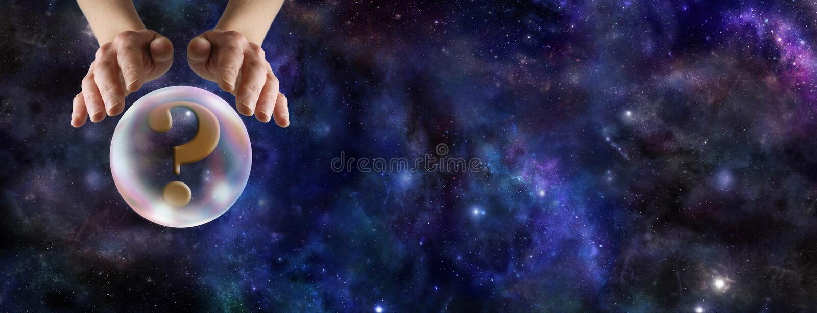 What does the Crystal Ball Reveal royalty free stock image