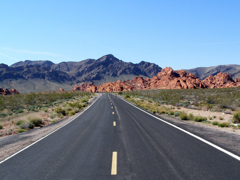 What a Drive. Rock formation found in the Valley of Fire in Nevada royalty free stock images