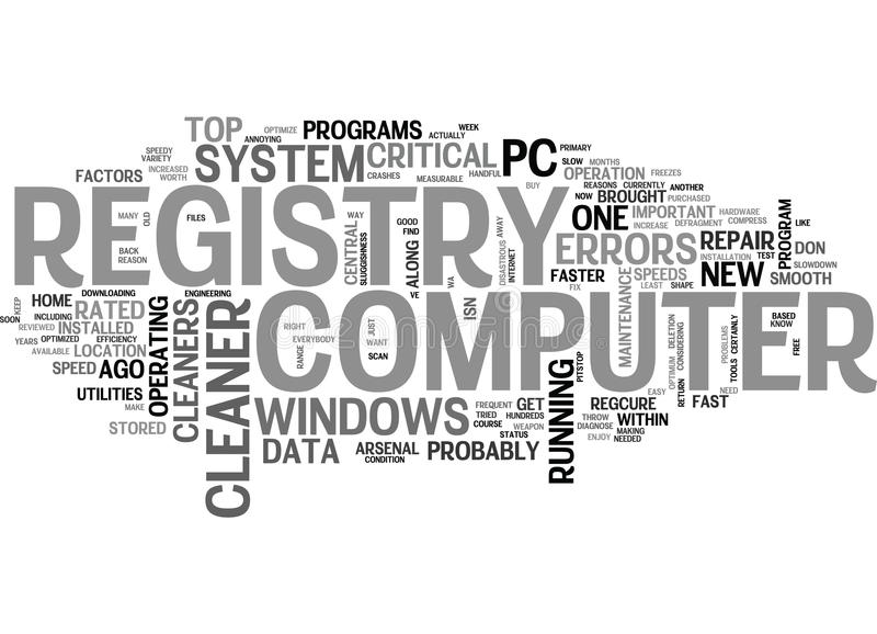 What Everybody Ought To Know About Registry Cleaners Word Cloud. WHAT EVERYBODY OUGHT TO KNOW ABOUT REGISTRY CLEANERS TEXT WORD CLOUD CONCEPT stock illustration