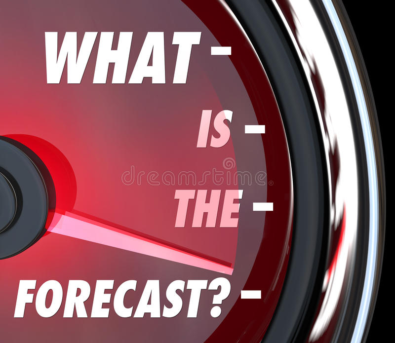 What is the Forecast Speedometer Gauge Level Measuring Growth vector illustration