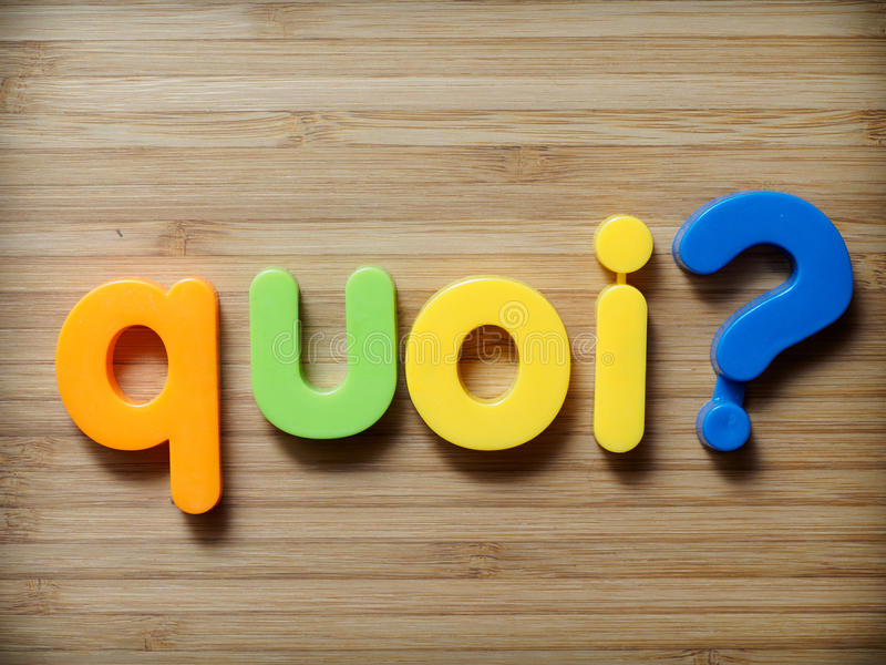 What French concept. What word in French concept stock images