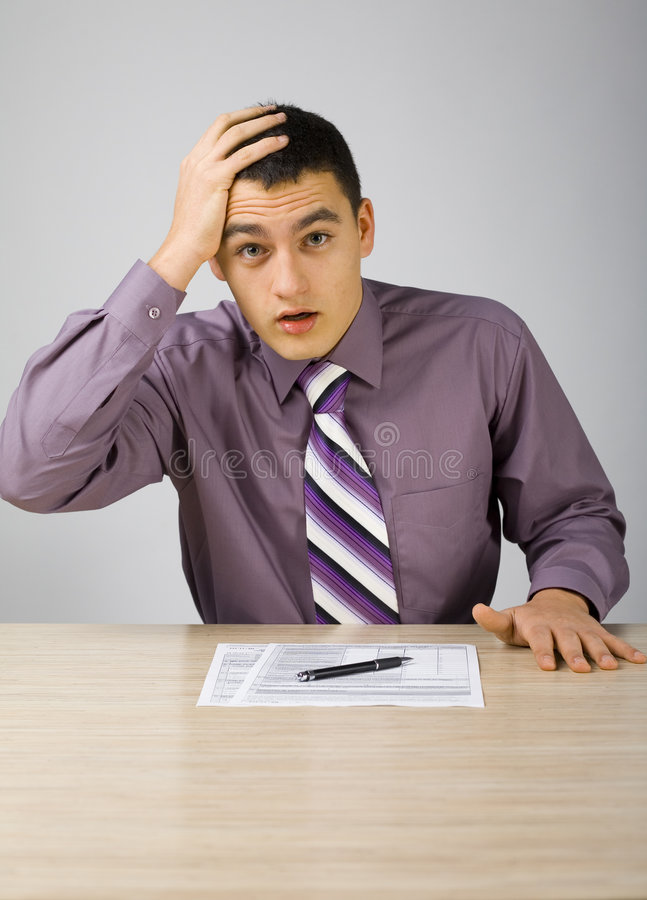 Download What have I done! stock image. Image of documents, adult - 1865937