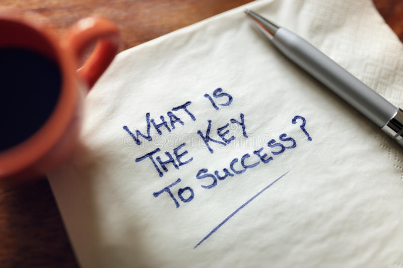 What is the key to success stock images