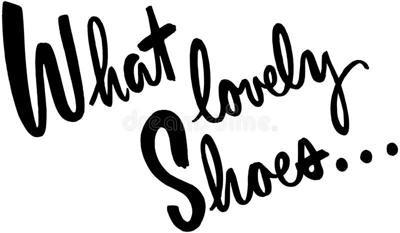What Lovely Shoes royalty free illustration
