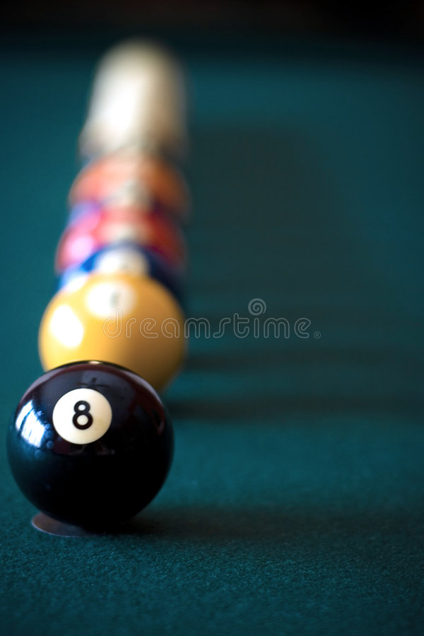 What Lurks Behind the Eight Ball stock photo