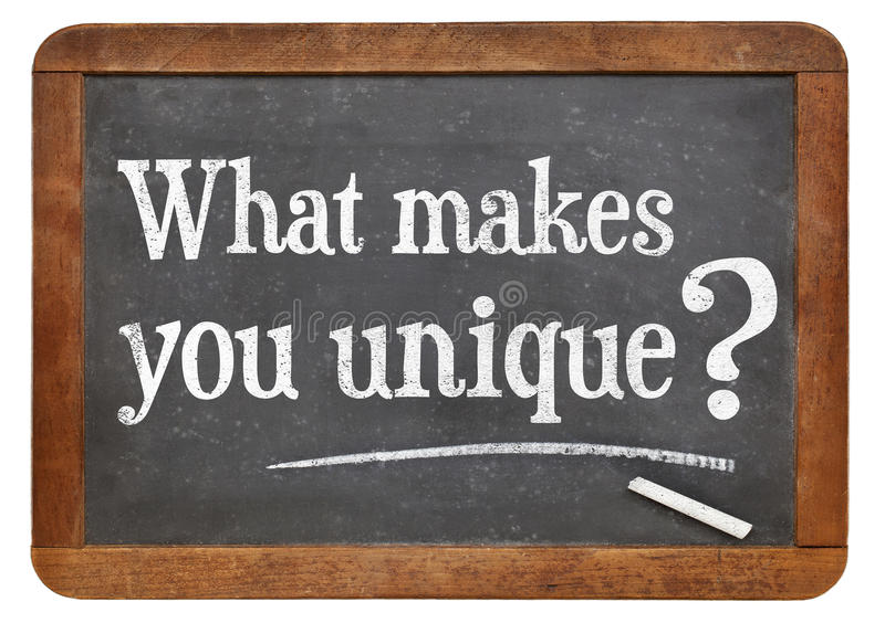 Download What Makes You Unique Question Stock Photo - Image: 41276657