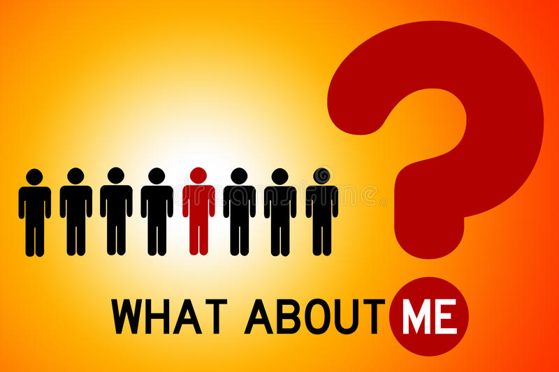 What about me stock illustration