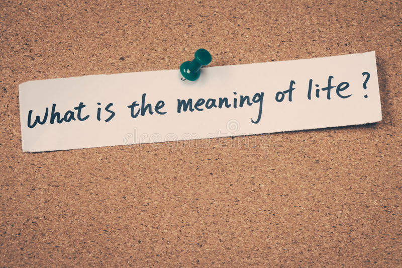 What is the meaning of life? royalty free stock photography