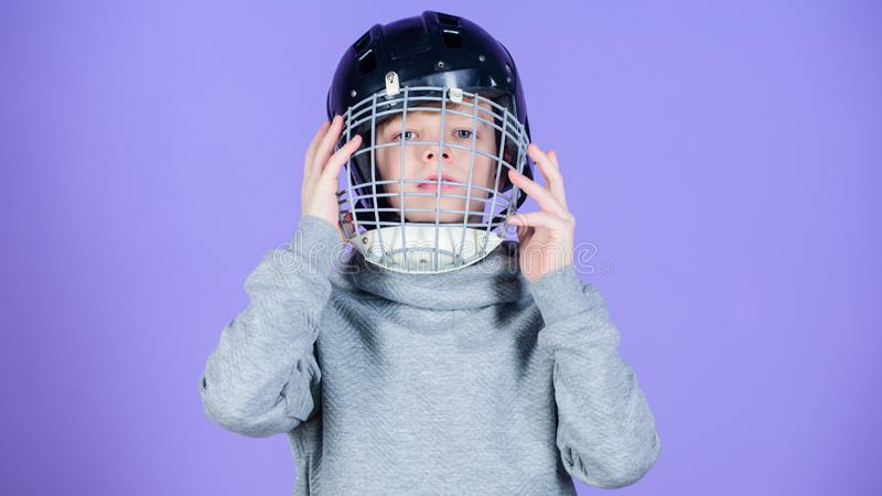 What is necessary for the game. Baseball helmet. Success. Childhood activity and energy. Gym workout of teen boy. Sport stock image