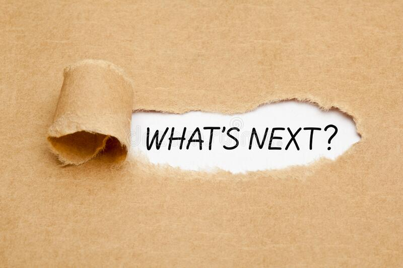 What Is Next Question Ripped Paper Concept royalty free stock photography