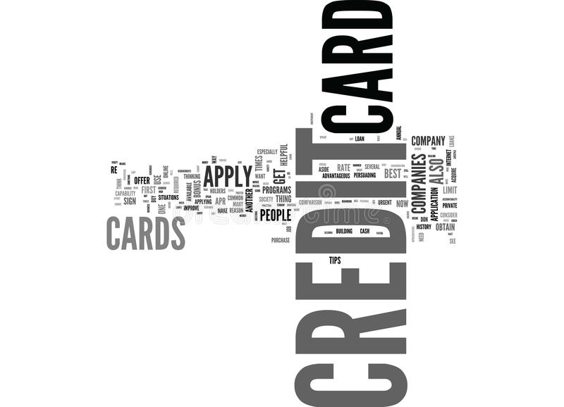 What S The Best Way To Apply For A Credit Card Word Cloud royalty free illustration