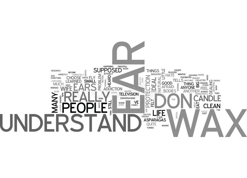 What S The Deal With Ear Waxword Cloud royalty free illustration