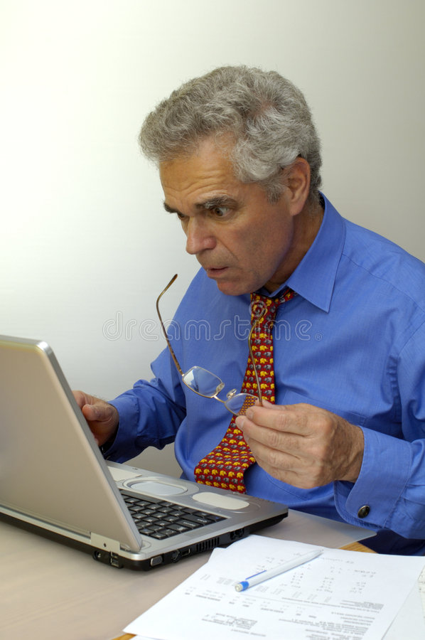 Download What's going on? stock photo. Image of laptop, mature - 1444338