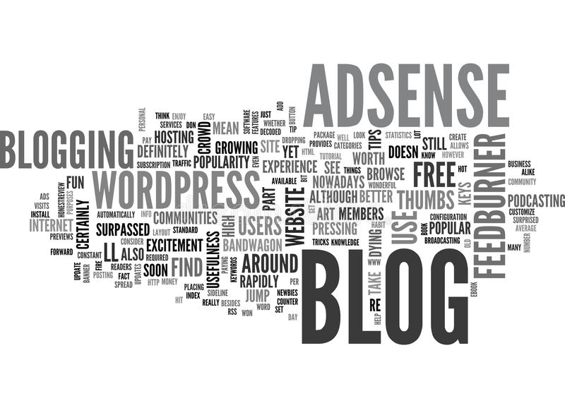 What Is A Blog And What Are Blogs Used For Word Cloud Stock