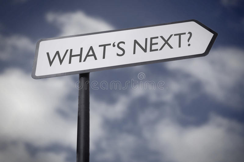 What's next road sign stock images