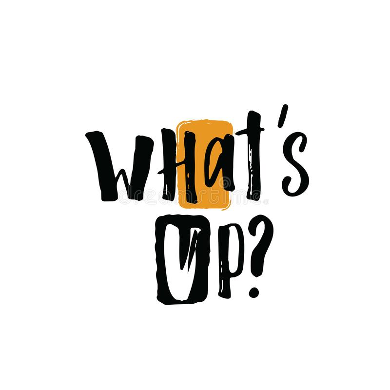 Free What`s Up. Hand Lettering Banner. Vector Illustration. Stock Images - 126013334